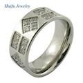 encanto anillo de acero inoxidable indonesia joyas de plata