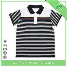 Latest Design Short Sleeve Strip Dri Fit Cheap Golf Shirt For China Wholesale