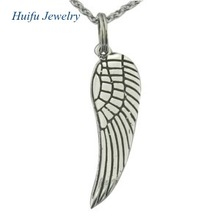 Charming wing stainless steel pendant angel jewelry
