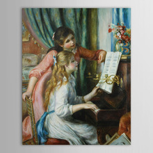 Classical Art -Lovely Girls Images Painting-Two Girls Painting