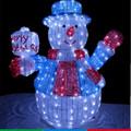 led de espuma de poliestireno adornos muñeco de nieve de césped decoraciones