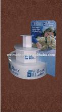 children toy/dolls POP Cardboard display stand,Cardboard table toy display, counter display