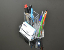 new style fashion desktop acrylic pen holder with memo pad holder