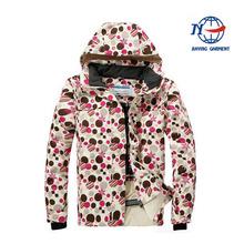 wholesale crane ski jacket high quality,2014 women lightweight heated ski snowboard jacket