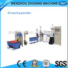 Flake PET/PP/PE plastic recycling granule machine