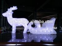 3D acrylic cart decoration LED christmas light