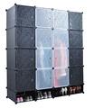 portátil de plástico armário roupeiro armoire com portas