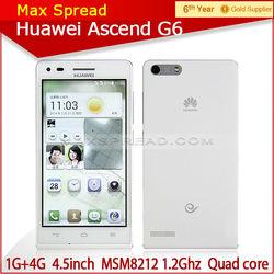 with english box huawei G6 Android4.3 MSM8212 Quad Core 1GB RAM 4GB RAM dual sim 3g phone