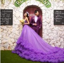 Z70293A ELEGANT BIG TAIL LONG PRINCESS WEDDING DRESS
