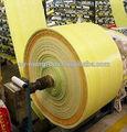 Alta qualidade 100% nova virgem cintas pp saco tecido folha de tecido tubular de farinha de arroz rolos fabricados na china
