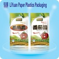 De calidad superior de productos lácteos material de embalaje de plástico para el pie de la bolsa