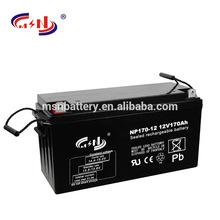 Long deep cycle life solar gel battery 12v170ah solar battery electric car battery