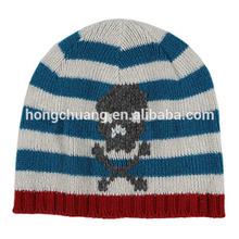 Hot Sale Acrylic Knitted Striped Summer Crochet Beanie Boy Hat Wholesale