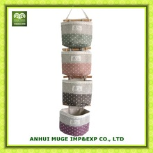 High quality hanging fabric wall storage bag