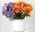 Mini flores artificiais feitas de porcelana em vasos decorativos, fake flor da espuma floral 2014