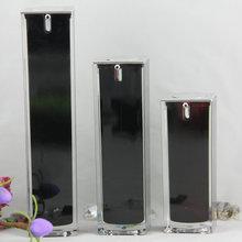 Popular new style square shape acrylic black perfume bottle