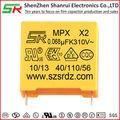 Box typ probe firmenprofil kondensator x2 Art 0.1uf mit ul-zertifizierung