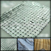 Decorative metal sheers, curtains chain mail, metal flake cloth