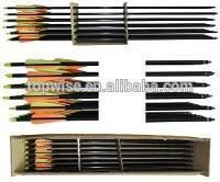 2014 HOT SALE black fiberglass arrows for compound bow,glass fibre arrows