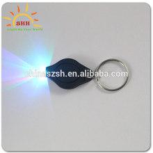 Custome Light Up LED Battery Control Mini lanyard keychain