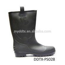 DDTX Factory Price Black Gumboots / PVC Rain Boots Garden Work Boots