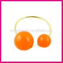 2014 Fashion trend orange big pearl expandable bangle bracelet