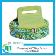 Full printed easy carry rolling cooler bag frozen bag hot cold