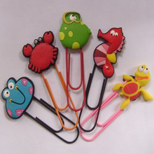 students cartoon animal shape plastic 3d soft pvc bookmark