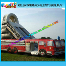 cheap!!!high quality!!!hot sale fire truck water slide prices