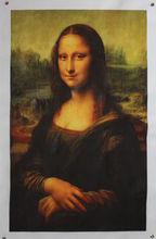 Printed Oil Painting On High Quality Cotton Mona Lisa Smile By Leonardo da Vinci Masterpiece Painting