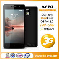 DHL Express 3-7 days delivery M10 3G 5inch QHD IPS MTK 6572 5 inch dual core android cell phone