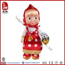 China manufacturer stuffed plush masha and the bear doll