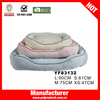 Embossed fur fabric colorful non slip pet dog beds