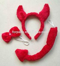 HBN-1455 Red devil headband Halloween party headband set