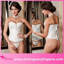 2015 vendita calda in lattice poliestere/spandex corsetto wholesale