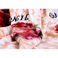 Embossed & cotton printed tower flannel fleece blanket