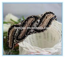 2014 designer fancy clear plastic teenage girls crochet handmade hair accessories headband bulk manufacturer