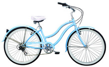 "26"" lady blue beach cruiser bicycle/bike SH-BB071"