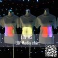 Luv-ms alto brilho blink t- shirt/levou publicidade camiseta para a festa
