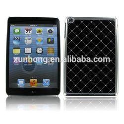 J1086 Chrome Jeweled Bling Diamond Hard Black Cover Case For Apple iPad Mini