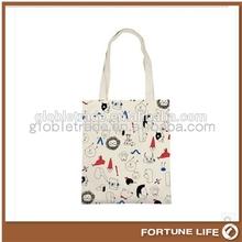 promotionele aangepaste doek tote tas, duidelijke witte katoenen doek tote tas