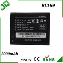 Original for Lenovo BL169 for lenovo battery Phone A789, P70, P800, S560 Neu/OVP, battery