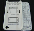 100% brand New Ultra slim Slide-out Bluetooth Wireless Keyboard + Hard Shell Back Case Skin Cover For iphone 5 5G 5S