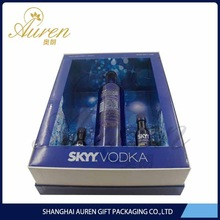 high quality luxury cardboard wine box with lid