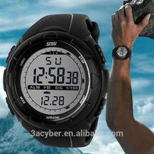 Unisex 50M Waterproof Digital LCD Alarm Date Military Sport Analog Watch 2014