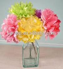 tissue paper flower making