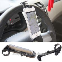 Car Phone Holder/Mobile Phone Car Holder Multifunction Steering Wheel Vehicle Navigation Car GPS Rest Creative Supplies
