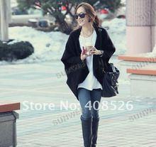 Señora de la mujer del cabo del Batwing Poncho Knit Top Cardigan Sweater Coat 3507
