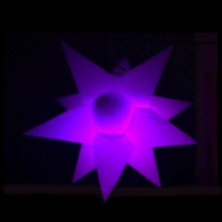colour led stars purple,Wedding/Stage/Party decoration led star,event led inflatable star,inflatable