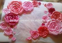 Foam Paper Flower Wedding Backdrop Decoration